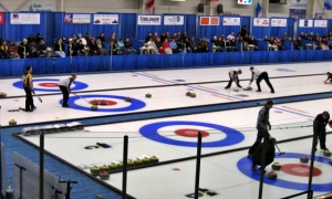 Over 300 Olds and area residents enjoy spending the winter months at the curling rink.
